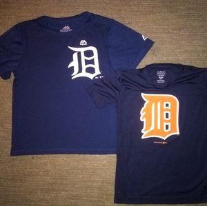 Set of 2 boys Detroit Tigers shirts